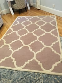 White and brown area rug Lynbrook, 11563