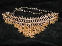 yellow gold plated zircon necklace 536 km