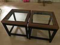 two brown wooden framed glass top tables Kalamazoo, 49048