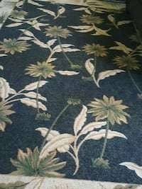 blue and white floral area rug Fresno, 93727