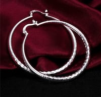 Sterling Silver Textured Hoop Earrings Richmond Hill, L4B 4T8