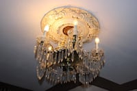 brown and white uplight chandelier Vancouver, V5W 2G9