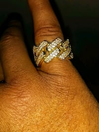 Gold plated ring size 7.( Pinky ring)