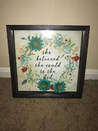 Floral shadowbox with quote Louisville, 40220
