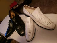 pair of white leather slip-on shoes Los Angeles, 91343