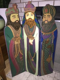 The Three Kings Wooden Christmas Decor