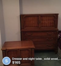 Dresser and night table.    Price is negotiable.  Good. Condition Montreal, H3W 1H1