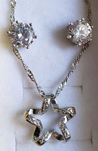 Sterling silver star pendant and chain with earrin Baltimore, 21224