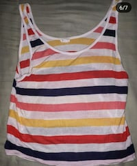 white and red striped tank top Burnaby, V3N