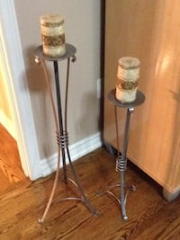 2 Candle holders (candles included) Toronto, M6A 2N9