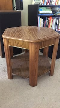 brown wooden single-drawer end table Teaticket, 02540