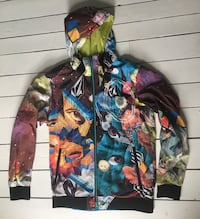 Men's Volcom lightweight Windbreaker Jacket SZ L