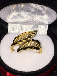 24K Yellow Gold plated Leaf  Ring: Firm Price / fashion jewelry