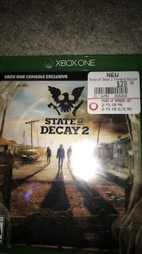 Xbox one state of decay  Owatonna, 55060