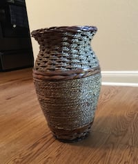 Clay and Bamboo Vase $29 OBO