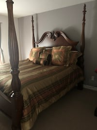 King size bed for sale including mattress, armoire and dresser London, N5X 4L2