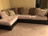 Beige and brown sectional couch Katy, 77493