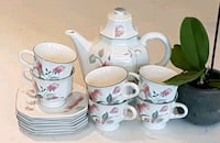 Mikasa Silk Flowers tea set for 6 Côte Saint-Luc, H4W