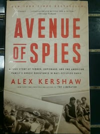 """NEW PAPERBACK BOOK, """"AVENUE OF SPIES"""" ALEX KERSHAW Medford, 97504"""