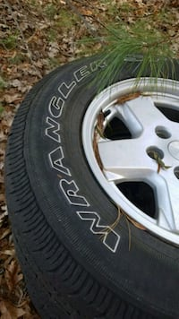 Set of 4 Goodyear Wrangler Rims and tires, lightly used City of Manassas, 20112