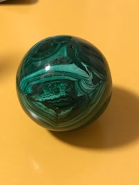 Natural Malachite ball from South Africa 列治文, V7A 3S5