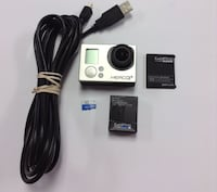 GoPro Hero3 silver edition includes a charger,battery and a 16gb sad card.  Wethersfield, 06109