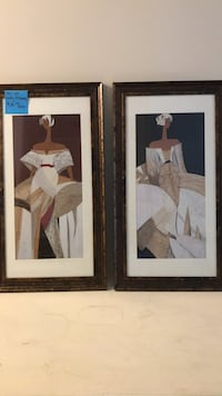 two white wooden framed painting of woman Lake Saint Louis, 63367