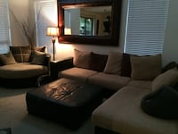 Couch/sectional & Round Swivel Love Seat & Lamp ALL 3 included Phoenix, 85048