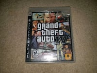 Grand Theft Auto IV PS3 game case Waterloo, N2J 1H1