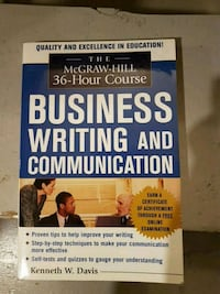 Business Writing And Communication  Hamilton, L8W 1T8