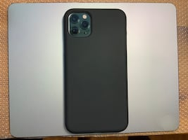 Black silicone case for iPhone 11 Pro Max