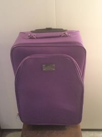 Joy Mangano Purple Carry-On Suitcase And Cover