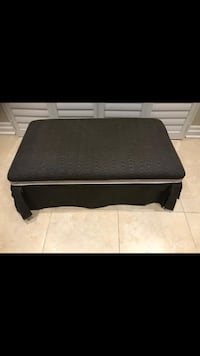 Black fabric bench in great condition 46 wide 28 deep 14 high inches Brampton, L7A