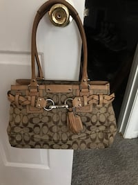 brown monogrammed Coach tote bag Germantown, 20874