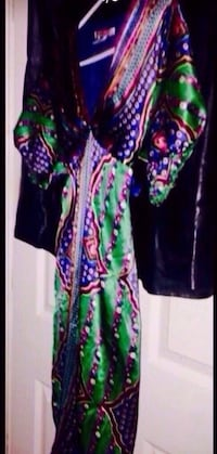 """""""Single"""" designer dress. 100% silk. Gorgeous colors. Fits a womans size small or girls large (size 14/16). I am a size 3 and can wear it. Single dresses are famous designer dresses made out of silk in beautiful colors. Retail cast when purchased $275 lik Columbus, 31909"""