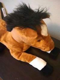 brown and white horse plush toy Gilbert, 85296