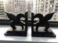 Black fleur-de-lis bookends (set of 2) New York, 10021