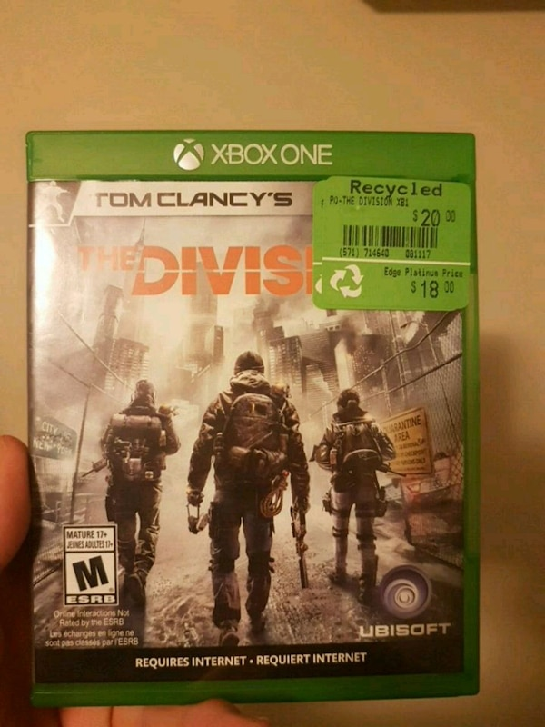 Xbox 360 The Division game case