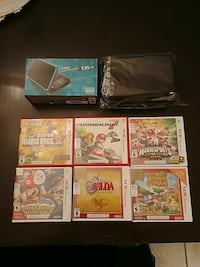 six assorted Nintendo 3DS game cases