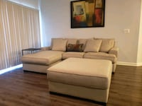 L-shaped sofa and Ottoman  Laurel, 20724