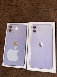 Purple and turquoise iPhone 11s