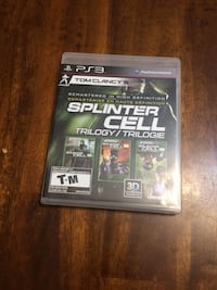 Splinter Cell Trilogy for PlayStation 3 ($10 firm) North Vancouver, V7P 1S3