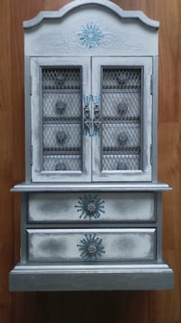 Musical Armoire-Style Jewelry Display Chest