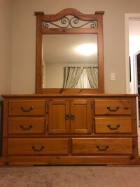brown wooden dresser with mirror Calgary, T3N 0M2