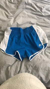 Blue and white adidas shorts Richmond Hill