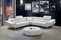 Brand New Furniture Sectional, White Beverly Hills