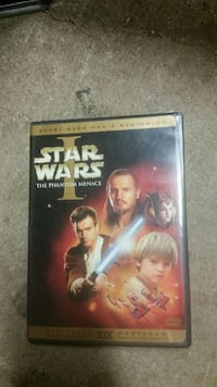 *SALE*  Star Wars The Phantom Menace DVD movie Garland, 75043