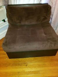 brown suede padded sofa chair Allentown, 18102
