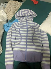 white and blue striped zip-up hoodie Edmonton, T5M 0K8