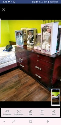brown wooden dresser with mirror Fort Wayne, 46808